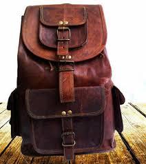 16 men s vintage leather laptop backpack shoulder messenger bag sling rucksack