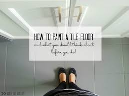 how to paint a tile floor and what you should think about before you do