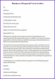 Business Proposal Cover Page Template Business Plan Cover Letter