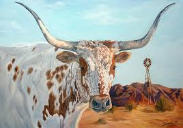 texas longhorn painting texas longhorn by jana goode