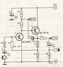 dynamic microphone amplifier schematic design circuit notes