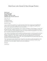Cover Letter For Assistant Manager Position In Retail Cover Letter For Assistant Manager Position Cover Letter For
