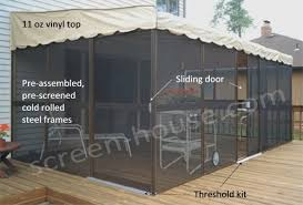 screen room kits kay home wall attached screenrooms patio mate