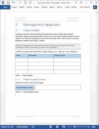 software development project budget template transition plan ms word template instant download