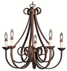 dover single tier chandelier 5 lights