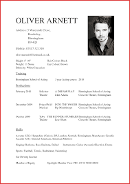 Fresh Acting Cv Template Personal Leave
