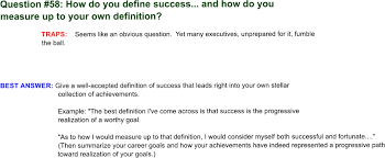 Interview Questions About Success Answering 64 Interview Questions Question 58 How Do You Define
