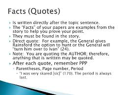 creation of a literary analysis essay ppt facts quotes after each quote remember ppp