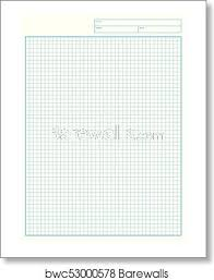 Graph Papper Engineering Graph Paper Printable Graph Paper Vector Art Print Poster
