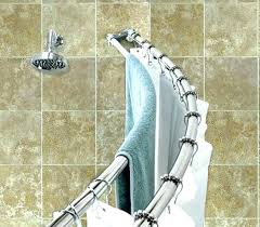 curved tension shower rod hang two curtain rods in the one moen chrome