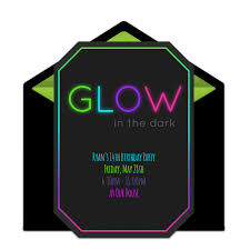 Free Glow In The Dark Online Invitation Punchbowl Com