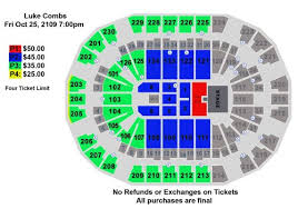 Luke Combs Seating Chart Luke Combs Save Mart Center