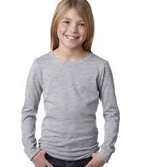 Next Level 3711 Nl Girls Long Sleeve Tee