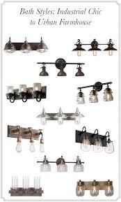 industrial lighting bathroom. bath styles industrial chic to urban farmhouse lighting bathroom i