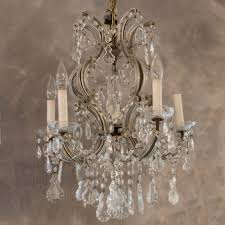 venetian crystal six light chandelier
