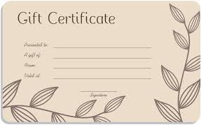 Free Printable Gift Certificates Template Free Printable Gift Certificate Template Blank Gift Certificate