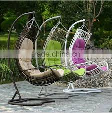 modern rattan wicker furniture indoor indian swing hanging chairs for bedrooms wrought iron patio swing