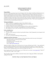 Diesel Mechanic Resume Resume Templates