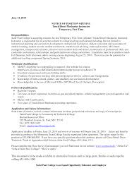Mechanic Resume Template Diesel Mechanic Resume Resume Templates 20