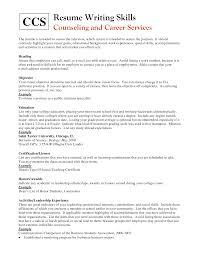 retail skills list resume resume for study