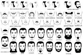 Mustache Styles Chart Mustache Beard Styles Moustache Beard No Mustache Beard