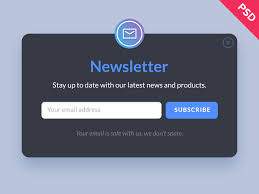Newsletter Form Psd Template Psd Templates Templates Free