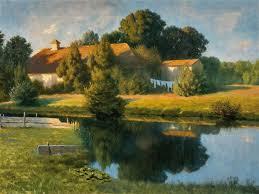 Clemens Wilhelm   Small lake in summer   MutualArt
