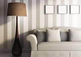 Wand Streichen Ideen Jugendzimmer Graue Wandfarbe Streifen Orange