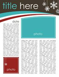 free newsletter templates for word christmas photo newsletter template free dermac info