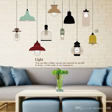 new pvc removable art retro bulb chandelier wall sticker decal mural room decor vintage light bulbs decal sticker bathroom wall decals bathroom wall