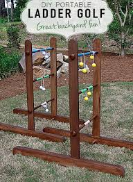 Wooden Ladder Ball Game Best Portable DIY Wooden Ladder Golf DIY Projects That Rock