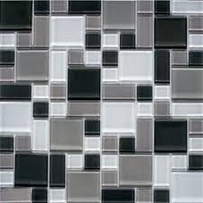 instant mosaic l and stick gray and white 12 in x 12 in x