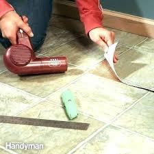 removing vinyl tile