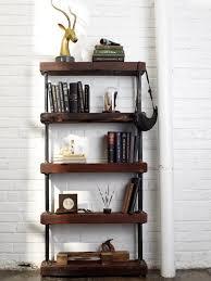 vintage wood bookshelf