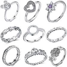 <b>CUTEECO Silver Color</b> Bow Knot Stackable Ring Micro Pave <b>CZ</b> ...