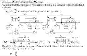 Two Stage Op Amp Design Virtual Ground In Two Stage Opamp For Slew Rate Calculation