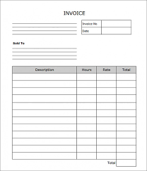 Free Download Sample Simple Invoice Template Word Doc Blank Invoice