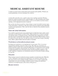Free Medical Assistant Resume Template Wonderful Examples Of A Medical Assistant Resume Medical Assistant Student