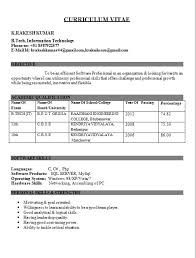 Engineering Student Resume Format Freshers | asptur.com