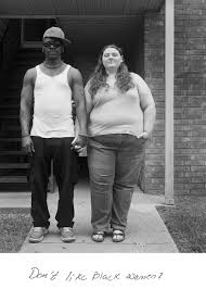 Black and white interracial couples
