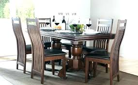 round extending dining table sets seats 6 extendable set dark wood chairs what size