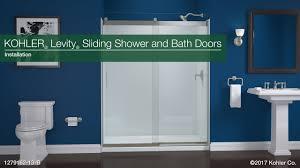 installation levity sliding shower and bath doors