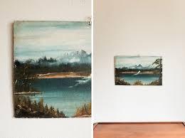 how to hang unframed art