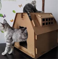 Cardboard House For Cats Online Buy Wholesale Cat Cardboard From China Cat Cardboard