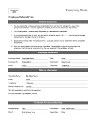 Referral Form Template Word Employee Referral Forms Charlotte Clergy Coalition