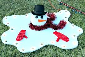 wooden decorations snowman outdoor yard traditional ornaments diy