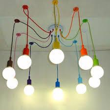 Edison Retro Spider Chandelier Lighting Colorful Pendant Lamp10 Heads  Multi-colored Silicone E27 For Bar