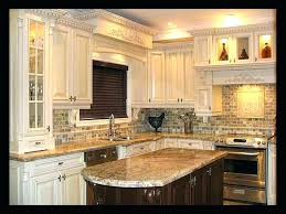 Dark Kitchen Cabinets With Light Granite Magnificent Kitchen Countertop And Backsplash Ideas Kitchen Granite And Ideas R