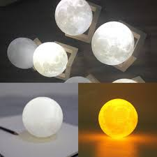 d color change usb touch switch led moon night light bedroom