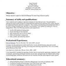 resume career overview example cover letter fascinating sample resume management resume summary how to write resume career overview example